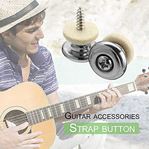 2 Pcs//Pair Guitar Strap Buttons with Mushroom Head Guitar Parts Accessories for Electric Acoustic Guitar Bass Belt Buckle Strap Buttons