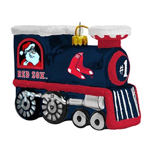 (MLB Boston Red Sox Blown Glass Train Ornament)