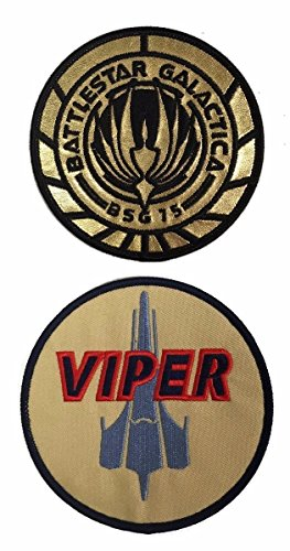 Battlestar Galactica BSG 75 and Viper Patch Set of 2 Patches