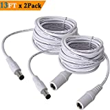 Cheap 5.5mm x 2.1mm Extension Cord 13FT, DC 12v Power Supply Adapter for CCTV Security Camera Surveillance Indoor Wireless IP Camera Dvr Standalone LED Strip, Car, 12 Volt Male to Female Plug Cable 2 Pack