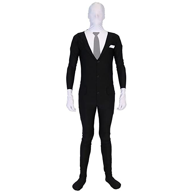 Amazon.com: Tall Man Body Traje adulto disfraz, L/XL, Negro ...