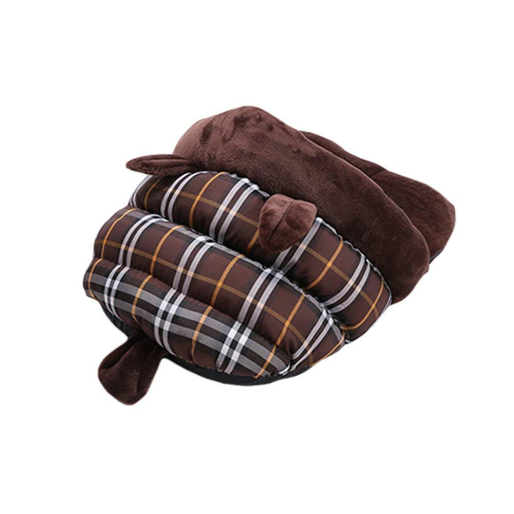 Brown Medium Brown Medium Kennel Pads Dog Beds Cat Nest Dog Bed Kennel Cat Sleeping Bag Deep Sleep Nest Cat Mat Pet Supplies Four Seasons Comfortable and Warm Cat Bed Pet Supplies Cover (color   Brown, Size   Medium)