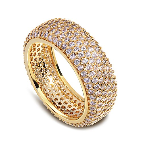 Tiffany Bangle Ring - GDSTAR rings for women gold plated with cubic zircon Rings Bangle ring s rings wedding jewerly 9.0