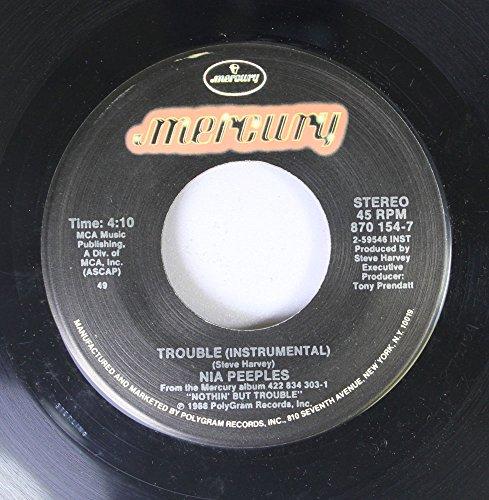 Nia Peeples - Nia Peeples 45 RPM Trouble (Instrumental