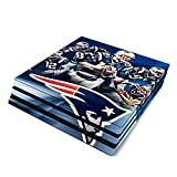 Decorative Video Game Skin Decal Cover Sticker for Sony PlayStation 4 Pro Console PS4 Pro - Tom Brady New Patriots