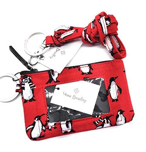 Vera Bradley Zip ID Case w/matching lanyard (Playful Penguin - Red)