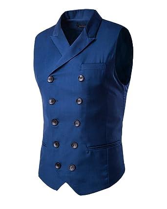 81c2fe93ef30 Gilet De Costume Homme Veste sans Manche Casual Mariage  Amazon.fr   Vêtements et accessoires