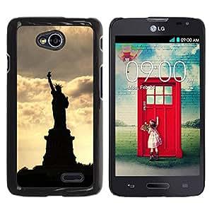 Paccase / SLIM PC / Aliminium Casa Carcasa Funda Case Cover para - The Statue Of Liberty - LG Optimus L70 / LS620 / D325 / MS323