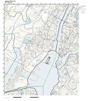 Amazon.com: ZIP Code Wall Map of Jersey City, NJ ZIP Code Map ...