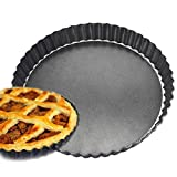 9 Inches Round Cake Mold Quiche Pan, Flower Chrysanthemum Non-Stick Removable Base Carbon Steel Pie Pan Tart Pizza Pan
