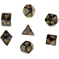 Imported 7pcs Multi Sided Dice TRPG Games Dungeons & Dragon D4-D20 Dices - Red