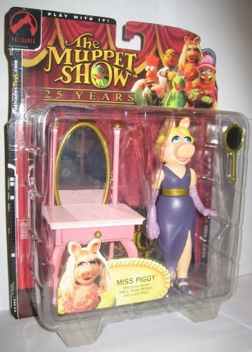 (Palisades Muppets Series 1 Miss Piggy Action Figure)