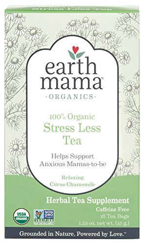 Earth Mama Organic Stress Less Tea for Pregnancy and Beyond, 16-Count