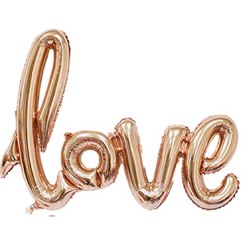 Ikevan New Love Letters Foil Balloon Birthday Wedding Party Anniversary Decor  Gold