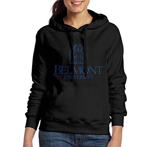 Bekey Women's Belmont University Hoodie Sweatshirt M Black