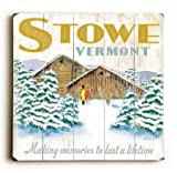 0003-1420-Winter Cabin Wood Sign 30x30 (77cm x 77cm) Planked