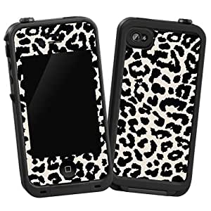 iphone 4s cases lifeproof black and white leopard quot protective decal skin 8073