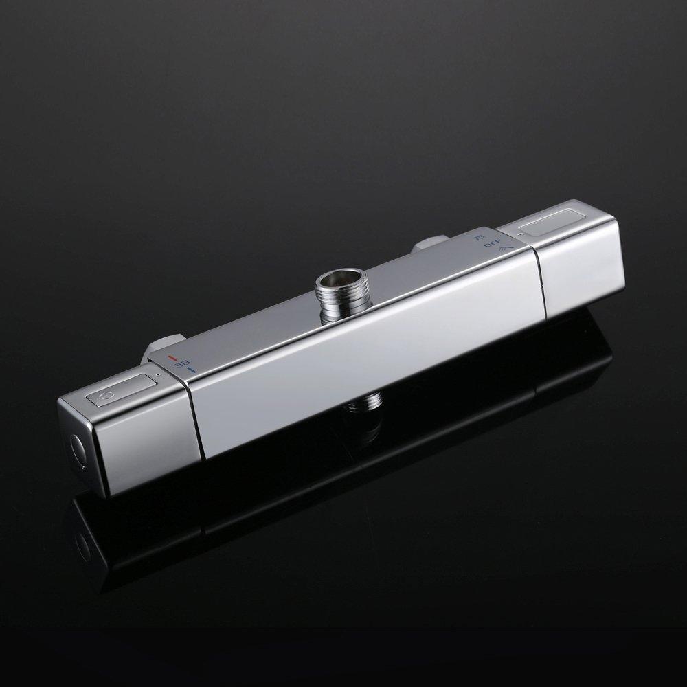 Kludi Spueltisch-Wandbatterie Standard mit Terralux Griffen Metall verchromt 310530508