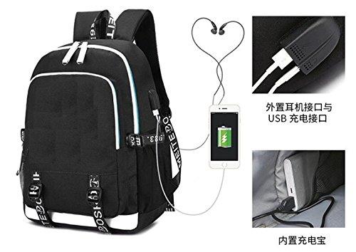 YOYOSHome Luminous Japanese Anime Cosplay Daypack Bookbag Laptop Bag Backpack School Bag with USB Charging Port (Fullmetal Alchemist 1) by YOYOSHome (Image #6)