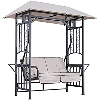 Amazon Com Outsunny 2 Person Patio Swing Chair W Canopy