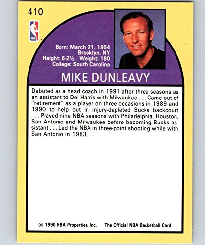 e7a0e8522 Amazon.com  1990-91 Hoops  410 Mike Dunleavy Sr. Lakers CO NBA Basketball   Collectibles   Fine Art