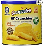 Gerber Graduates Lil Crunchies, 1.48-Ounce Canisters (Pack of 6)