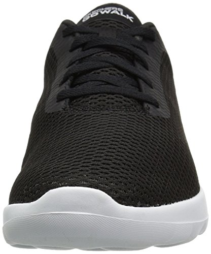 Skechers Women's Go Black White 15601 Walking Shoe Joy 77AqwH