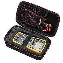 RLSOCO Carrying case for Fluke 117/115/116/114/113 Digital Multimeter and Fluke F15B+F17B+F18B+ Neoteck Pocket Digital Multimeter Crenova MS8233D Extech EX330 and more(With DIY Foam)