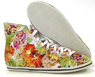 Schuh-City Süße Blumen Sneaker sportlich elegante Damen Schuhe Sneaker  beige 36  Amazon.de  Schuhe   Handtaschen 85276a854f