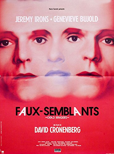 Dead Ringers 1988 Original France Petite Movie Poster David Cronenberg Jeremy Irons