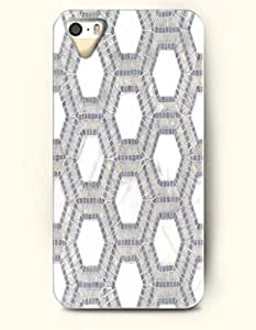 Beautifulcase Apple iPhone 4/4S Cover Grey Hexagon Pattern - Hard Back Plastic case cover / Honeycomb Pattern 6UPQJfW2Qxu / OOFIT Authentic