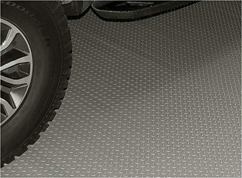 RoughTex Diamond Deck 85724 Pewter Textured Roll Out Garage Floor Mat, Various Sizes Available by Diamond Deck (Image #6)