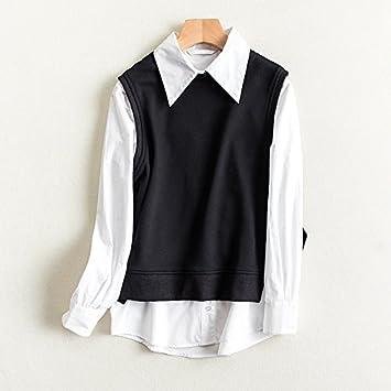 Blusas de mujer con rayas de moda anillo chaleco de algodón camisetas y chalecos de algodón