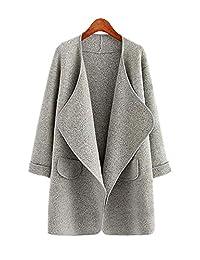 ARJOSA Women's Casual Open Front Cardigan Jacket Trench Coat Outerwear