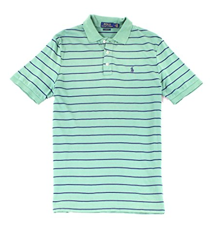 Polo Ralph Lauren Blue Mens Small Polo Rugby Stripe Shirt Green (Rugby Stripe Mens Polo Shirt)