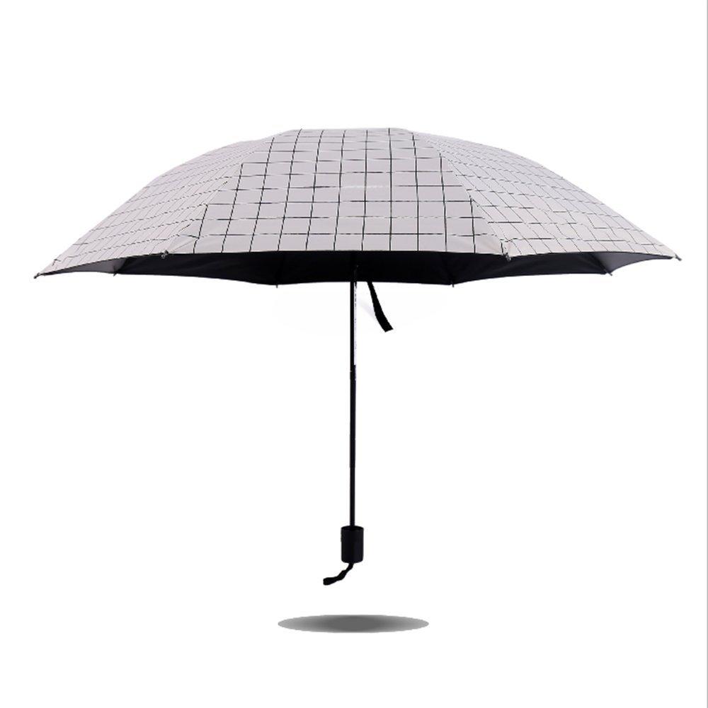 Leisial Femme et Homme Parapluie à Carreaux Parasols Parapluie Pliant Protection UV pour Tout Climat