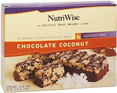NutriWise - Chocolate Coconut Crispy Diet Protein Bars (7 bars)
