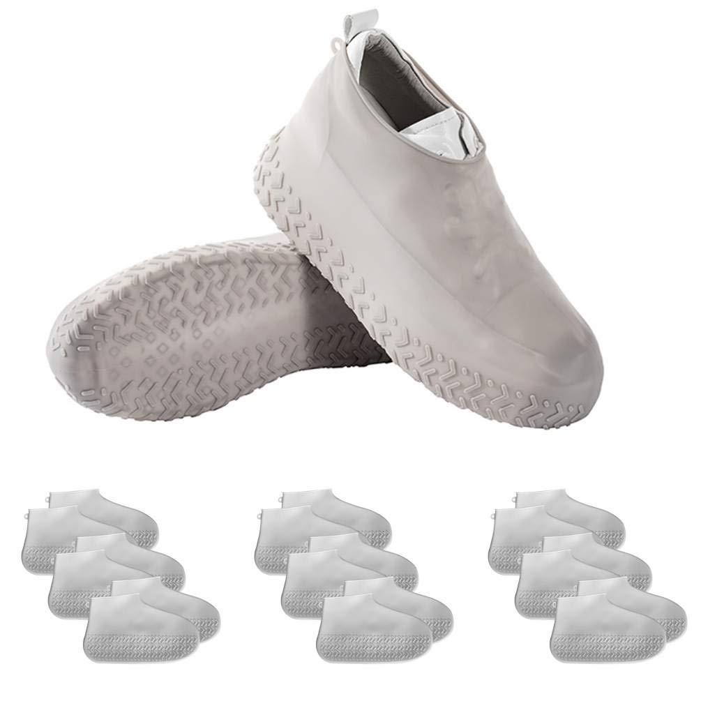 BAOYOUNI Silicone Waterproof Rain Shoe Covers, Washable Foldable Reusable No-Slip Elastic Cycling Walking Outdoor Unisex Boot Shoe Protectors by BAOYOUNI