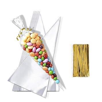 Hifot 100 Piezas Bolsas de plástico Transparentes Bolsas de ...