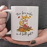 zojirushi leaf - Fall mug,11oz, 15oz, fall decor,for fox sake,autumn coffee mug,fall coffee mug,pumpkin mug,halloween decor,fall leaves,autumn gift,is it fall yet, fox