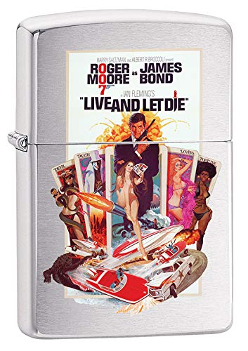 Zippo Lighter: James Bond, Live and Let Die - Brushed Chrome 79671