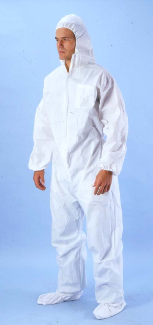 NY Tarp Polypropylene Disposable Coveralls Elastic wrist, Booty and Hood (25 Each) Size 2X-Large. 40 GSM