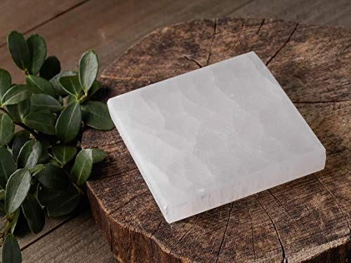 6 Selenite Square Polished Flat Crystal Charging Station Powerful Healing Energy Reiki by CrystalsAhoy