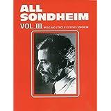 All Sondheim, Vol 3: Piano/Vocal
