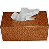 Wooden Tissue Box Cover Exotic Pommele Sapele Veneer Rectangular Regular Size - Kleenex Opening With Bottom