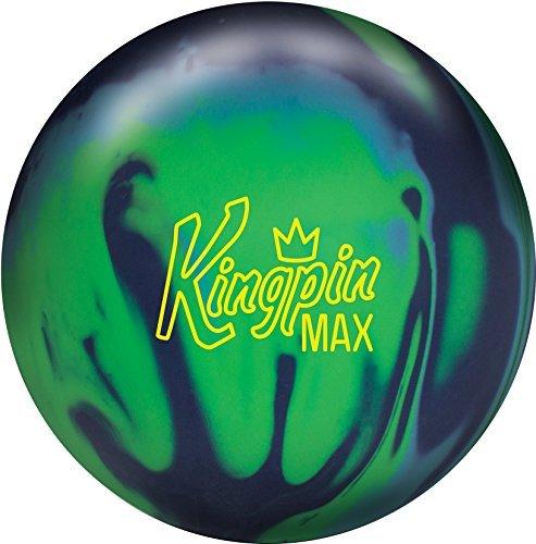 Brunswick Kingpin Max Bowling Ball Navy/Green/Light Blue, 14lbs
