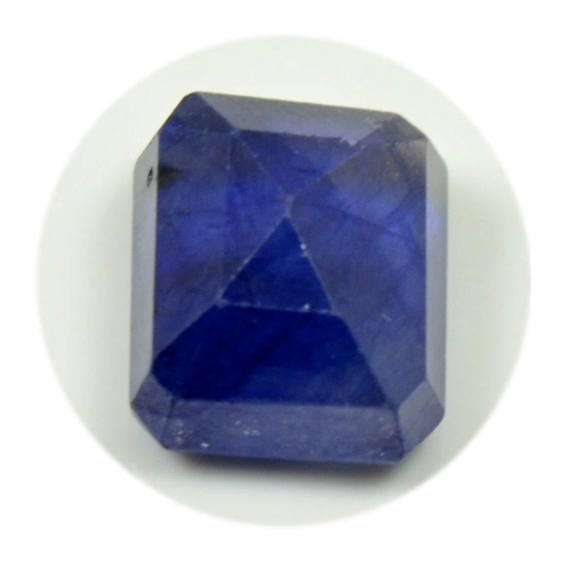 Nat/ürlicher blauer Saphir-Edelstein 5 Carat Octagon Shape September Birthstone am Gro/ßhandelspreis-losen Stein