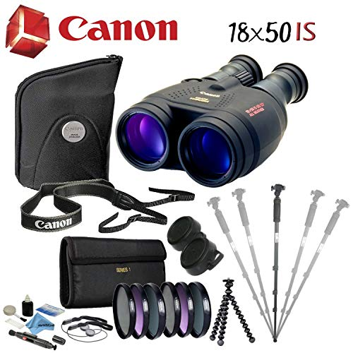 Canon 18x50 is Image Stabilized Binocular Advanced Bundle