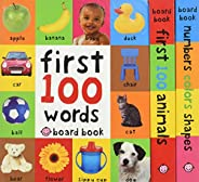 First 100 Board Book Box Set (3 books)