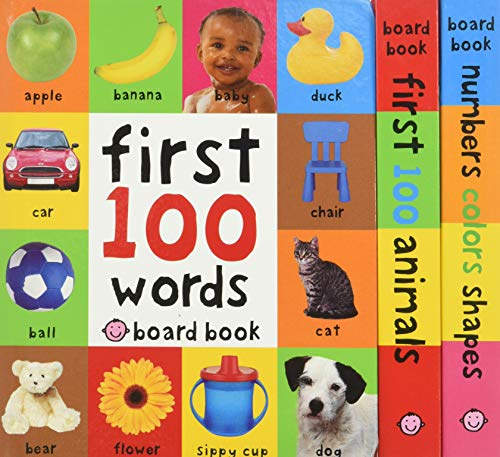 First 100 Board Book Box Set (3 books) Board book – January 26, 2016